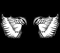 BACK ANGEL WINGS tattoo wing flying SHIRT 2X