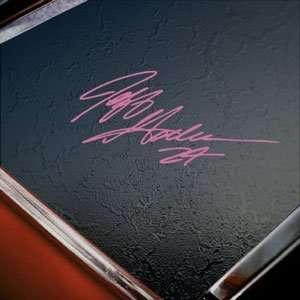 Jeff Gordon Signature Pink Decal Truck Window Pink Sticker
