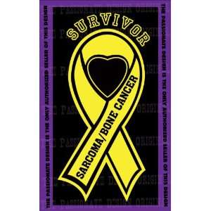 Sarcoma Bone Cancer Ribbon Decal 8 X 14 Everything Else