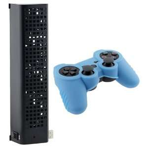 USB Cooling Fan +Case Skin Cover for SONY PlayStation 3 Video Games