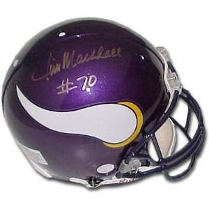 Jim Marshall Minnesota Vikings Autographed Helmet: Sports