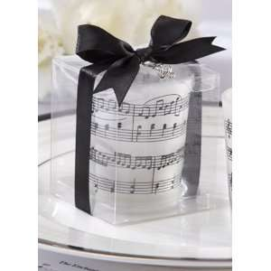 Davids Bridal Music of the Heart Glass Tealight Holder