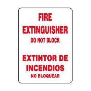 Sign,14x10,fire Extinguisher Do Not Blk   ACCUFORM SIGNS