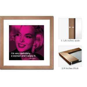 Bronze Framed Marilyn Monroe Poster Print Woman Quote