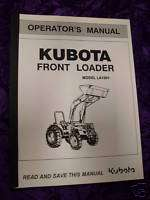 Kubota LA1001 Front Loader Operators Manual