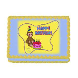 Personalized CURIOUS GEORGE Edible Cake Topper Image