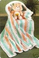 PRETTY Sherbet Stripes Baby Afghan/Crochet Pattern