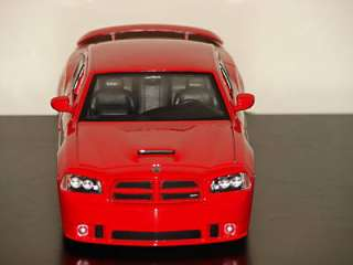 NEW 1/24 Scale Die Cast Metal 2006 Red Dodge Charger SRT8