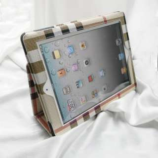 The NEW iPad 3rd Generation Slim PU Leather Smart Cover Case Stand