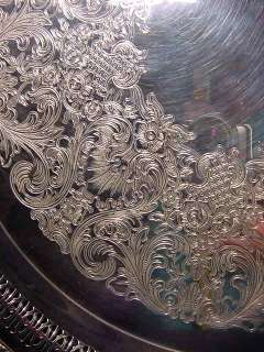 Vintage Wm. Rogers & Son Spring Flower Reticulated Chased Silver