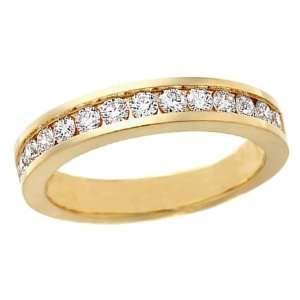 1/4 CT Diamond Wedding Band 14K Yellow Gold (I1 I2 Clarity