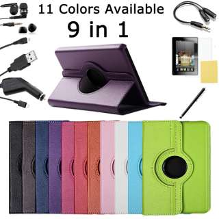 Fire Stand Case $12.99 Leather Kindle Fire Rotate Case $15.99