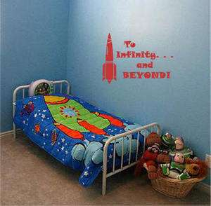 Toy Story Buzz Space Quote Boys Room Wall Decor Decal