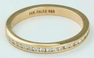 ZALES 14K Gold Diamond Wedding Anniversary Band Ring 6