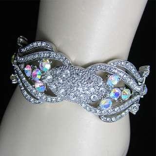 Elgant Bracelet Bangle Cuff swarovski crystal B292