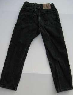 GAP Boys Jeans Black Loose Fit Sz 8 Regular Straight Leg GUC