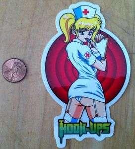 HOOK UPS VINTAGE NOS NURSE GIRL ANGEL STICKER MINT