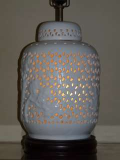 VNTG Blanc de Chine CHINOISERIE LAMP Hollywood Regency