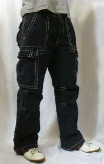 TRUE RELIGION Brand Jeans Mens Big T White Stitch Anthony Cargo Pants