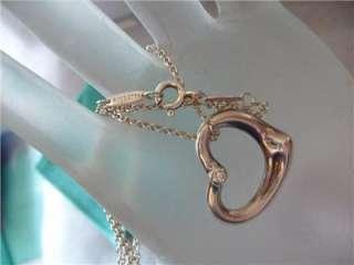 Tiffany & Co Elsa Peretti Diamond Open Heart Necklace