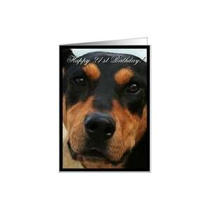 Happy 21st Birthday Doberman Pinscher Dog Card: Toys & Games