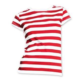 Striped T Shirt S XL Horizontal Black White Red Blue Stripes Womens