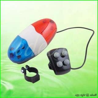 LED 4 Sound Car Light Trumpet Bike Bicycle Horn Bell