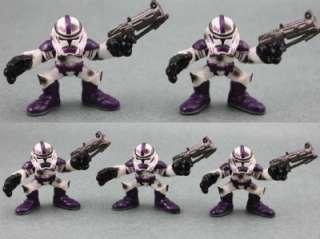 Lot 5 PCS Star Wars Galactic Heroes Purple Clone Trooper Figures SW17