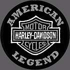 GENUINE HARLEY DAVIDSON® EMB302546 PATCH H D® SILVER BAR SHIELD HD