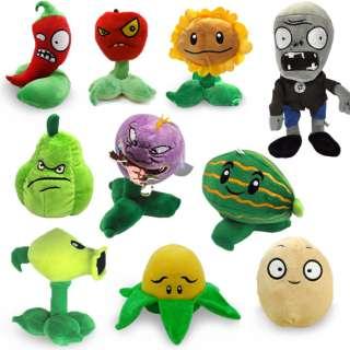 10 pcs Plants Vs Zombies Stuffed Soft Plush Toy Doll 4