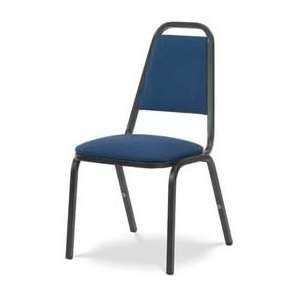 ® 8926 Domed Seat Straight Back Stack Chair Black Frame/Blue Fabric