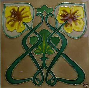Yellow Flower Wall Art Tile Ceramic Trivet 8x8 Coaster