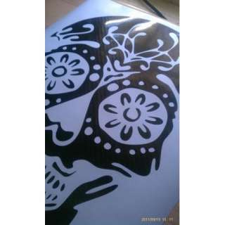 SUGAR SKULL VINYL DECAL sticker gothic window wall art day of the dead