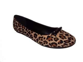 City Classified women flat shoes leopard Print Tan cheetah color OXTON