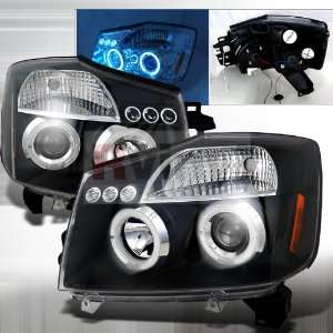 Nissan Armada 2004 2005 2006 LED Halo Projector Headlights