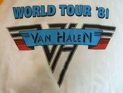 vtg VAN HALEN heavy metal rock concert raglan t shirt XL Canada lbl