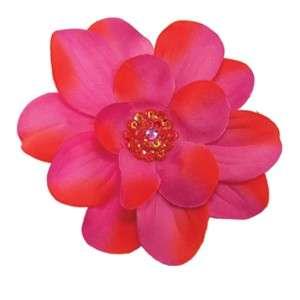 PICK SEQUINS RHINESTONE center silk flower hair clip