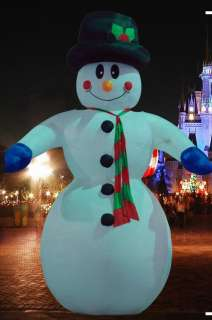 26 HUGE COMMERCIAL AIRBLOWN INFLATABLE SNOWMAN CHRISTMAS YARD ART