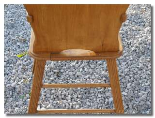 Vintage Oak Wood Wooden Childs High Chair
