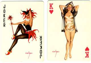 RARE 1940s VARGAS GIRL DOUBLE DECK PIN UP PLAYING CARDS COMME CI COMME