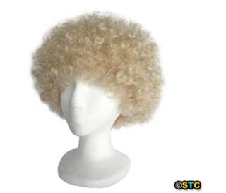 Economy Blonde Afro Wig ~ HALLOWEEN 60s 70s DISCO CLOWN COSTUME PARTY
