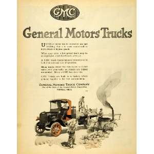 1920 Ad GMC Workers Commercial Trucks General Motors Co