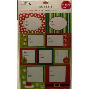 Hallmark Christmas XS 8201 Cool Yule Collection Name Tags ~ Red, Green