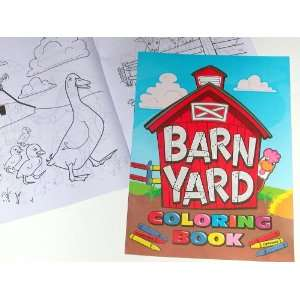 Barnyard Farm Coloring Books ~ 8 X 11 ~ 12 Pages ~ New Toys & Games