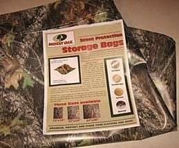 auction is for 4 Mossy Oak Scent Free Clothes Storage Bags 22 x 27