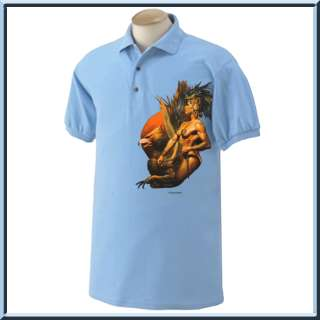 Light blue polo shirts are only available in S 2X.