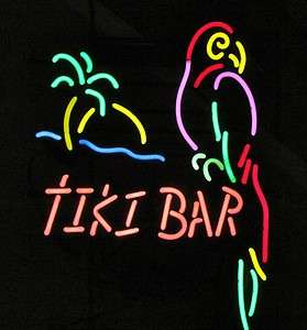 USA MADE Tiki Bar Parrot Neon Beer Bar Light Margaritaville Furniture