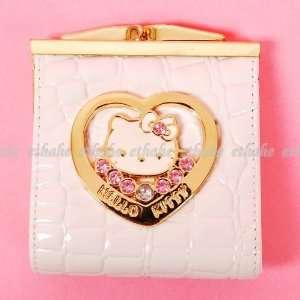 Hello Kitty Head Heart Mini Purse Bag Wallet White Office