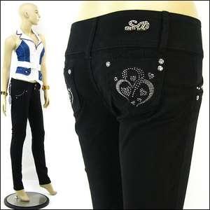Full Length Butt Lifter Jeans Levanta Cola Rhinestone Skinny Jeans