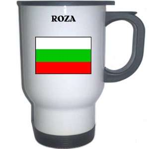 Bulgaria   ROZA White Stainless Steel Mug: Everything
